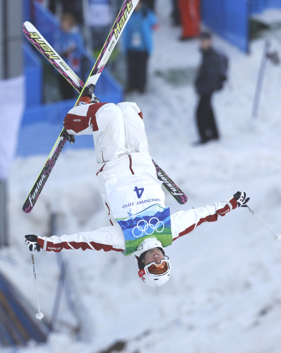 Canada's Bilodeau competes during men's freestyle skiing moguls qualifying on Cypress Mountain at the Vancouver 2010 Winter Olympics