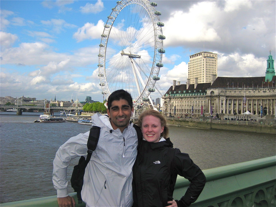 London circa 2009, our first great adventure together.