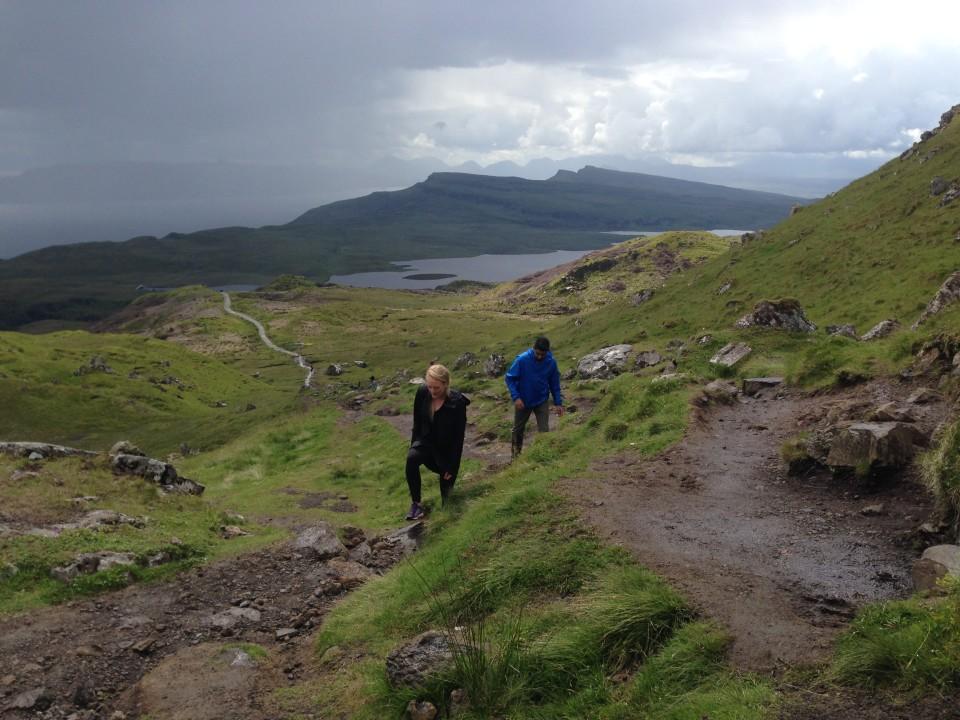 Hiking Man of Storr