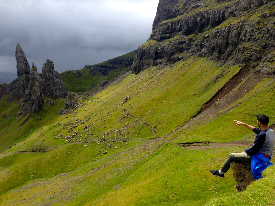 Storm rolling over Man of Storr